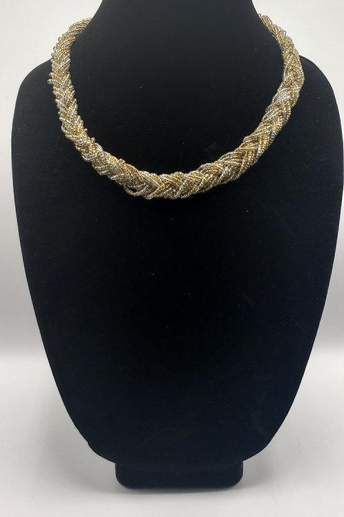 Champagne Bead Necklace & Bracelet
