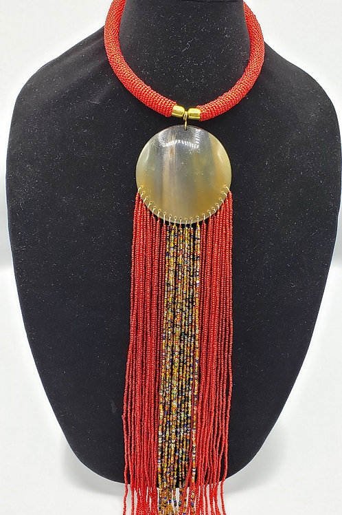 Red & Masaai Waterfall Pendant Necklace