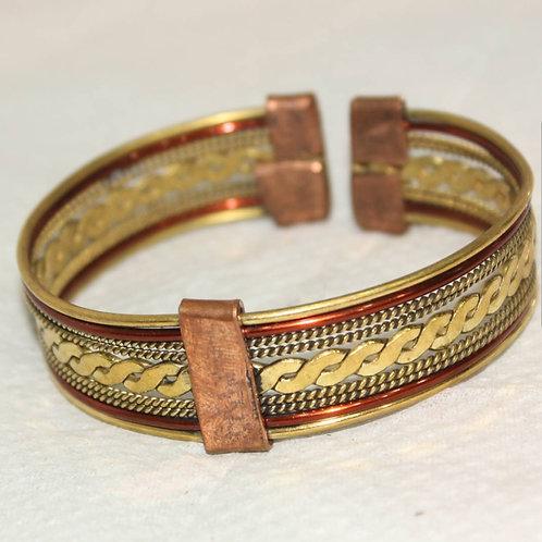 Brass & Copper Cuff Bracelet
