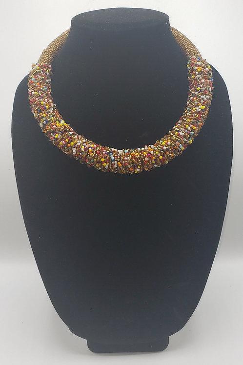 Masaai & Gold Necklace