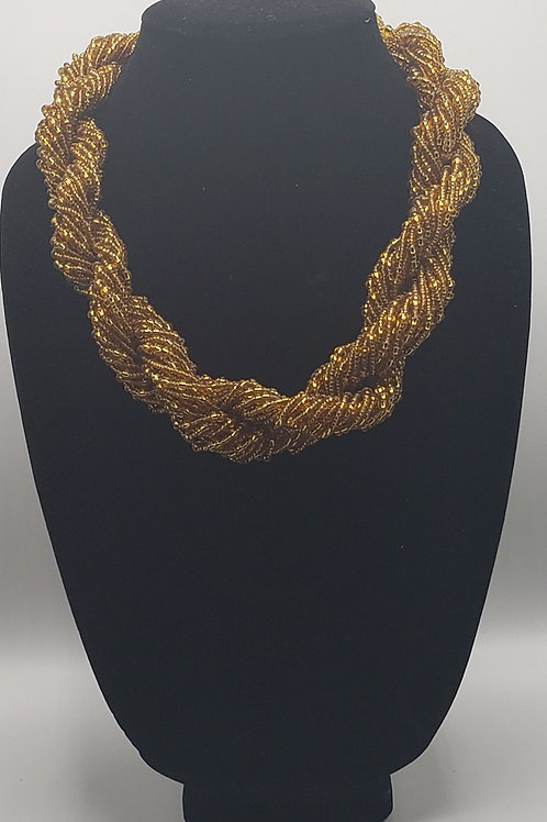 Twisted Gold Strand Necklace