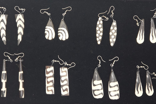 Authentic Cow Bone Earrings
