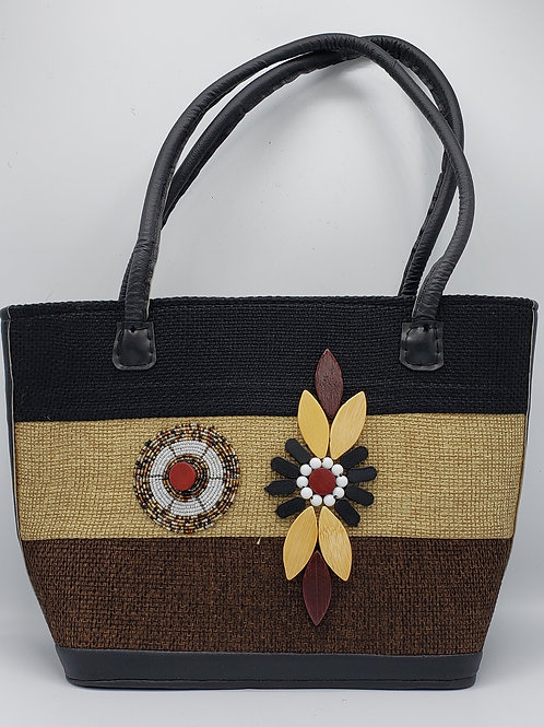 Brown/Tan Jute Purse