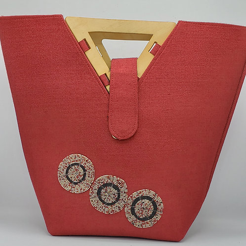 Triangle Handle Jute Bag