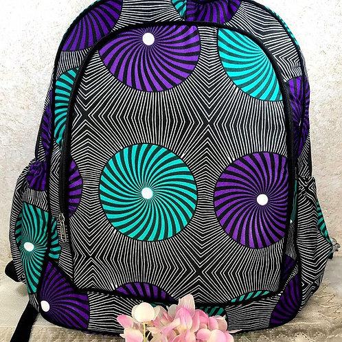 Oversized Kitenge Fabric Backpack