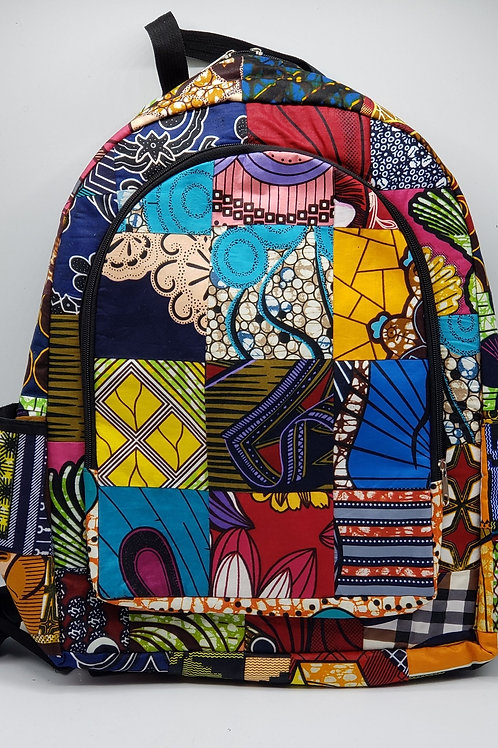 Oversized Patchwork Backpack