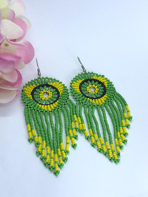 Lemon/Lime Dream Catcher Earrings
