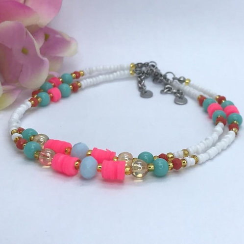 Cotton Candy Anklet
