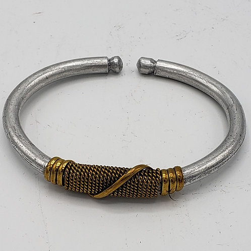 Adjustable Aluminum & Brass Bracelet