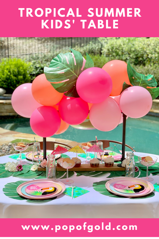 How to Set a Tropical Summer Kids' Table