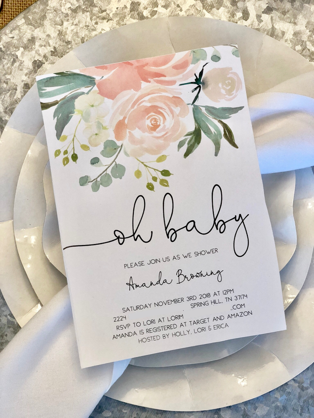 Rustic Farmhouse Baby Shower