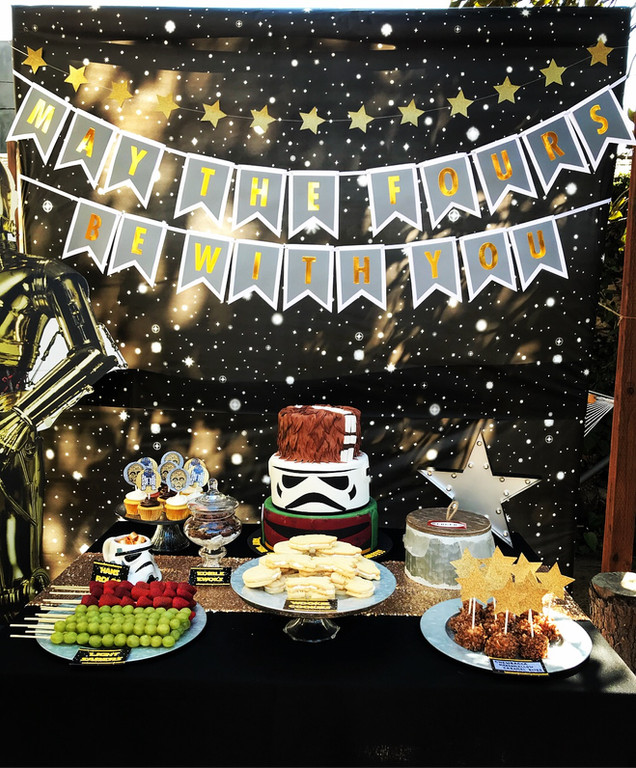 Star Wars Birthday Party - May the FOURS Be With You