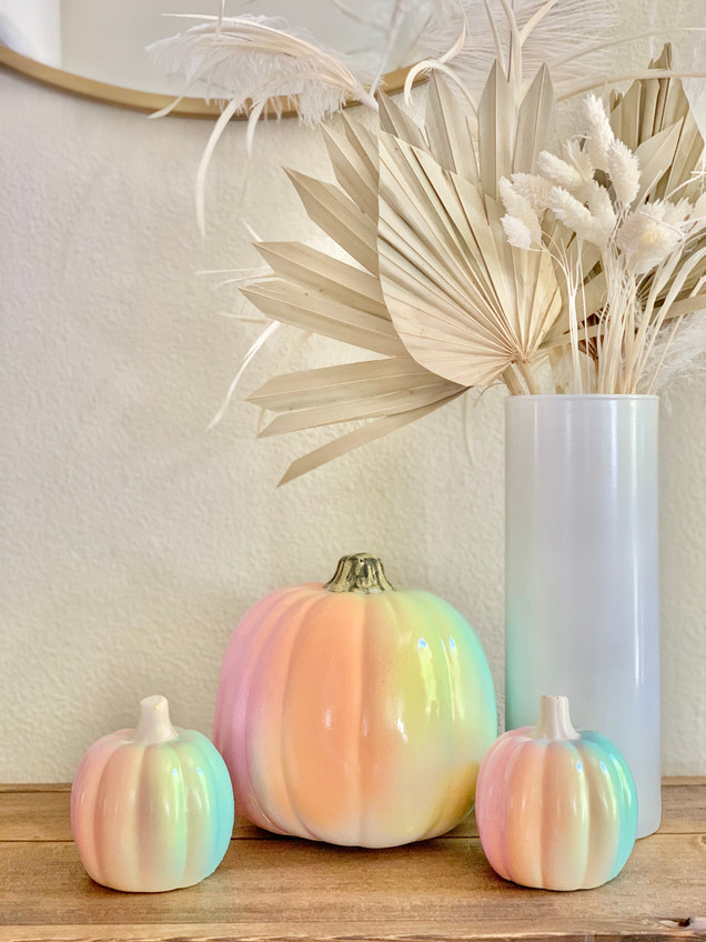 How to Make Ombre Rainbow Pumpkins