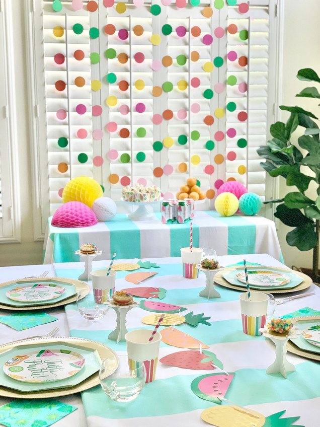 Throw a Tutti Fruity Party with DIY Backdrop