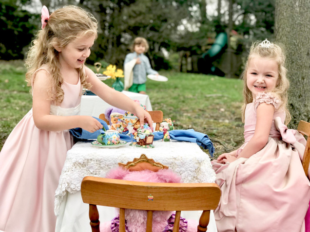 Teddy Bear Tea Party in the Forest
