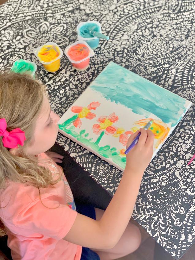 Pudding Paint Kids Craft