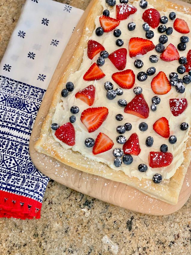 Berry Cheesecake Puff Pastry Recipe