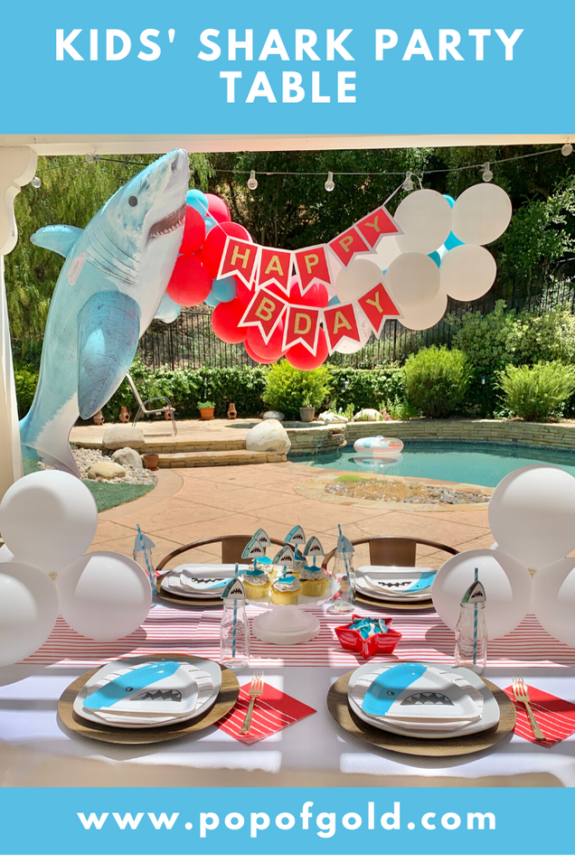 Kids' Shark Party Table