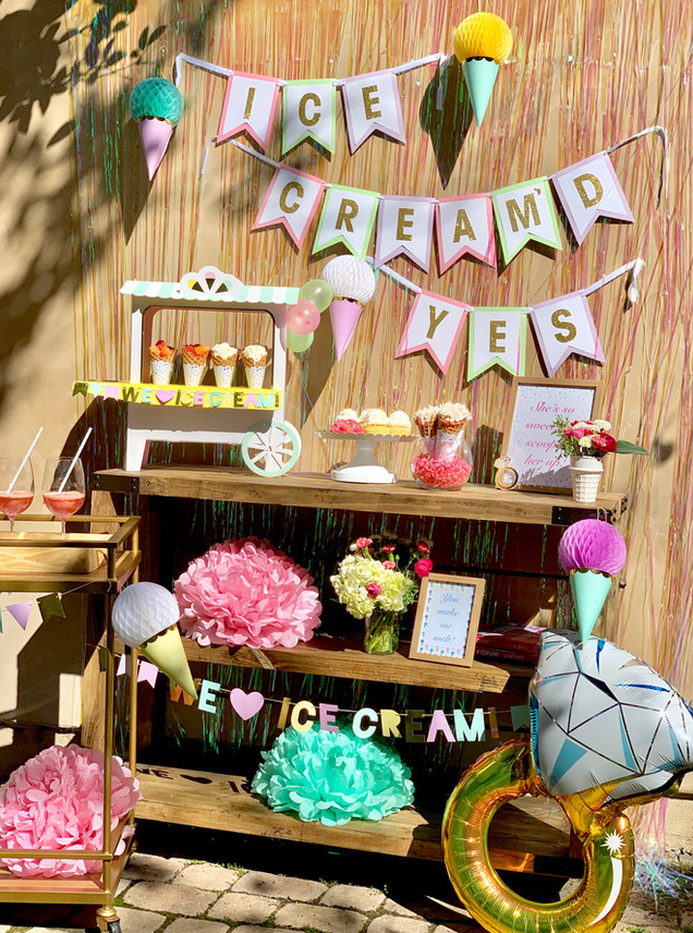 Ice Cream Themed Engagement Party with Party Luxe Box