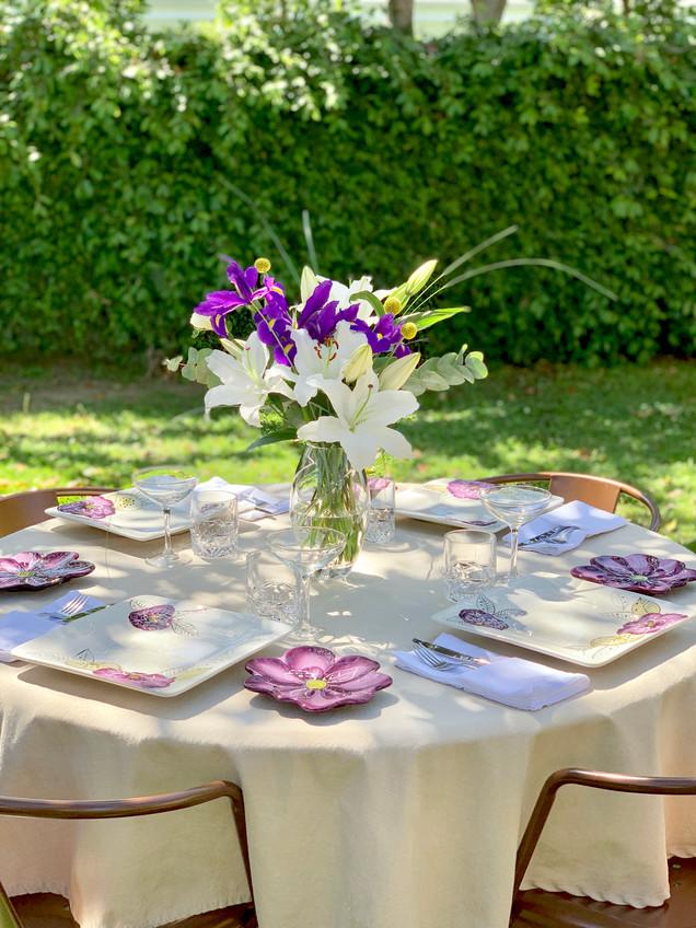 Simple Spring Dinner Table