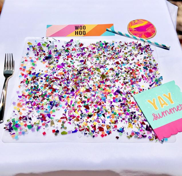 DIY Confetti Placemat Tutorial