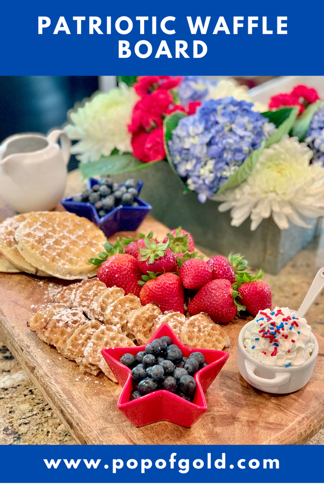 How to make a Patriotic Waffle Board