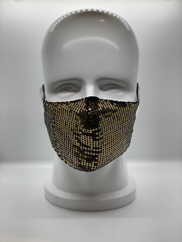 Sequin 2-Layer Cotton Face Mask