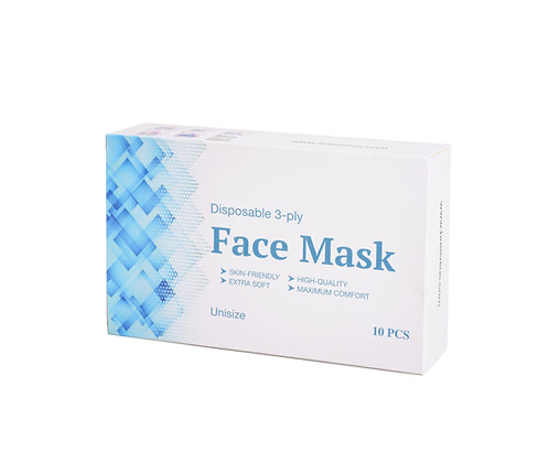 Disposable 3-Ply Face Mask 10 PCS