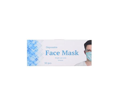 Disposable 3-Ply Face Mask 50 PCS