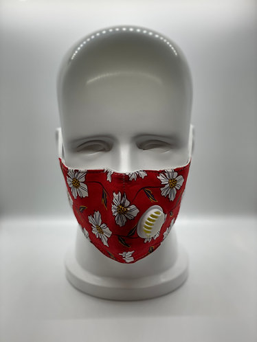 Fashionable 3-Layer Cotton Face Mask with 5-ply Carbon Protection Filter(PM2.5)