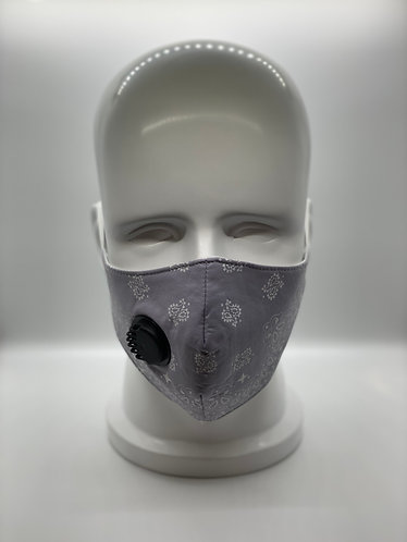 Grey Bandana 3-Layer Face Mask with 5-ply Carbon Protection Filter(PM2.5)