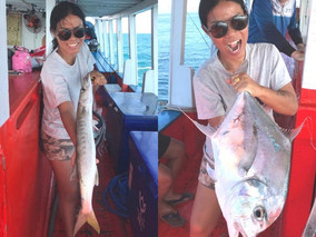 Barracuda and African Pompano catch in pattaya