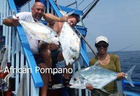 African Pompano catch at Ocean Fishing Pattaya.