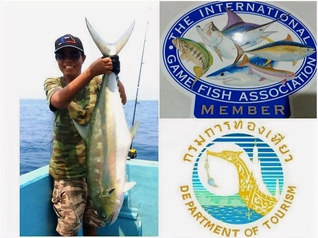 Thailand-Fishing is a licensed registered tour guide of the Thai Department of Tourism and a Member of IGFA.