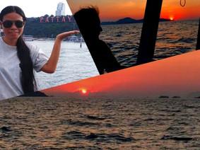 Beautiful sunrise at the ocean fishing pattaya.