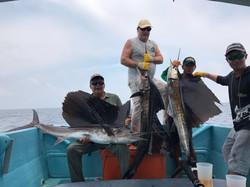 3 Sailfish catch at same time