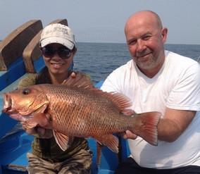 Golden Snapper catch at Ocean Fishing Pattaya.