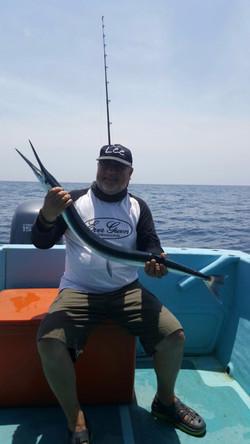 Gar fishing