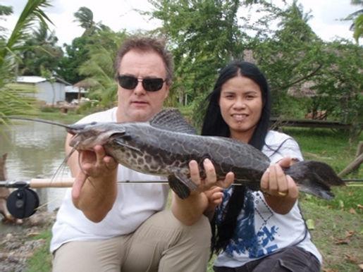 Marble Catfish  / Jundia / Leiarius Marmoratus / catch by Thailand-Fishing