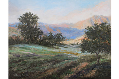 Absaroka Mountain Evening 8x10 Oil Palet