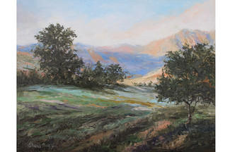 Absaroka Mountain Evening 8x10 Oil Palet