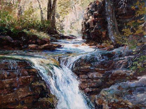 Baring Creek Melody 8x10 Oil Palette Kni