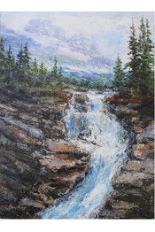Virginia Creek Glacier  9x12 Oil Palette