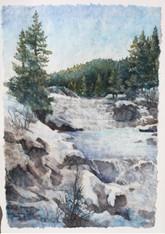 Little Salmon River, 27 X 21 framed, Nat
