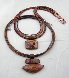 Necklace & leather 2