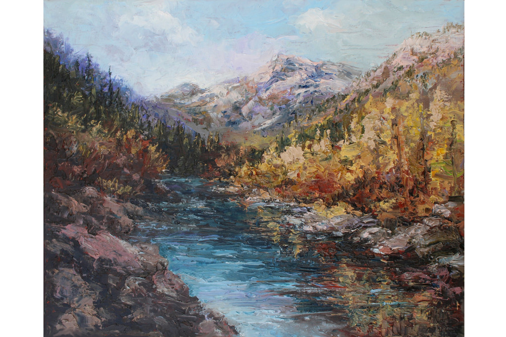 Tapestry of Autumn 8x10 Oil Palette Knif
