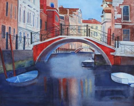 Red Bridge Venice,25 X 30 framed $550.jp