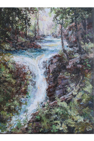 Cascades of Baring Creek 8x10 Oil Palett
