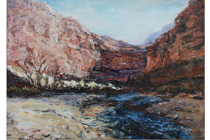 Canyon Light Zion 8x10 Oil Palette Knife