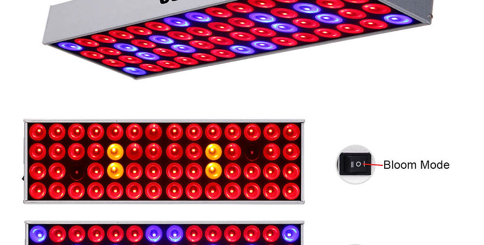 JCBritw 30W Plus LED Grow Light Panel Full Spectrum Veg & Bloom Dual Mode